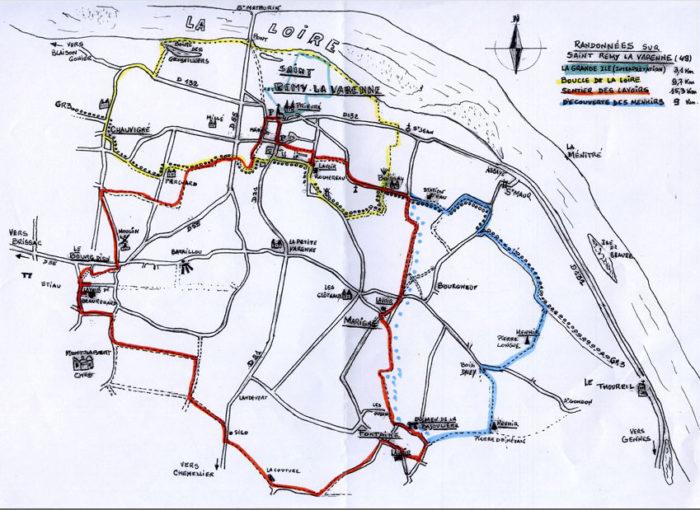 Les sentiers de randonnées autour de Saint Rémy la Varenne