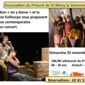 "Danse contemporaine et concert - Association ""on y danse"" et la Compagnie Eoliharpe"